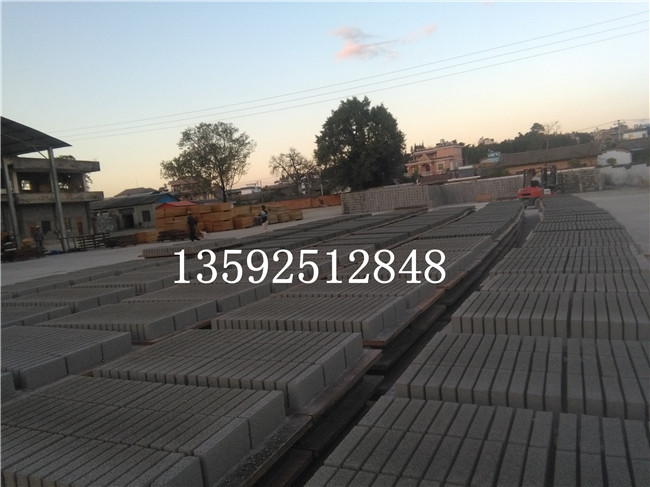 湖北武汉12-15免烧水泥砖机生产线安装完毕