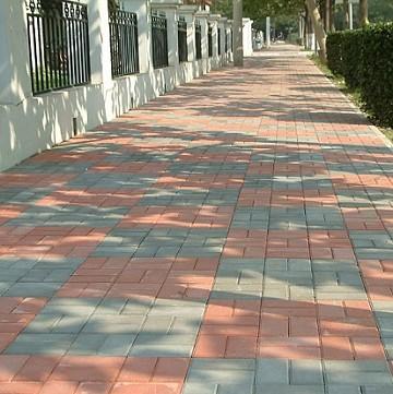 宜欣路面砖机产出的路面砖的效果图