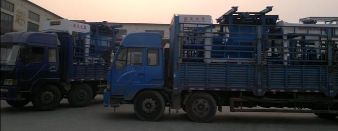 2套8-15免烧砖机发往陕西渭南