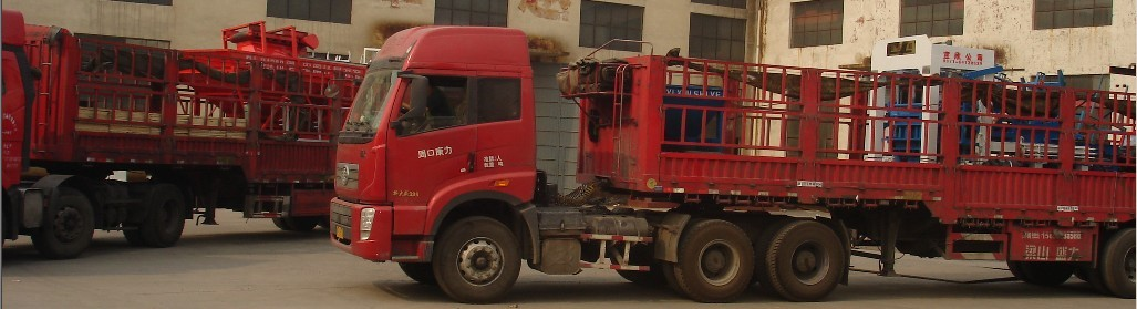 内蒙古阿拉善盟免烧砖机发货现场