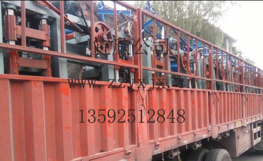贵州毕节小型免烧砖机发货现场