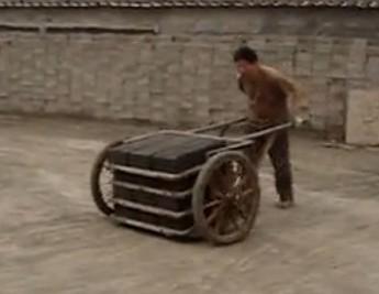 水泥砖机配套设备手推车
