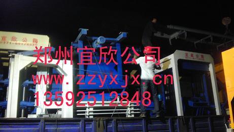整套6-15砖机设备发往河南省武陟县