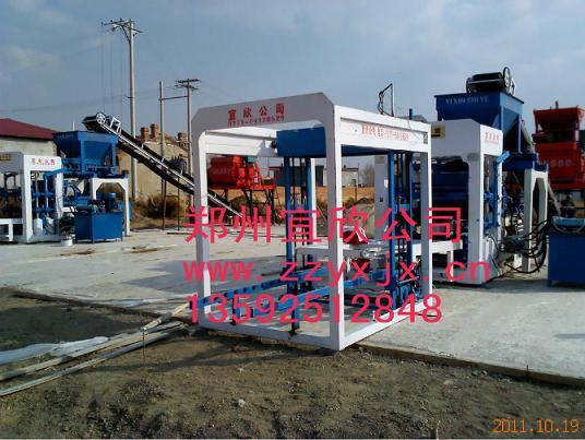 宜欣内蒙古免烧砖机生产线