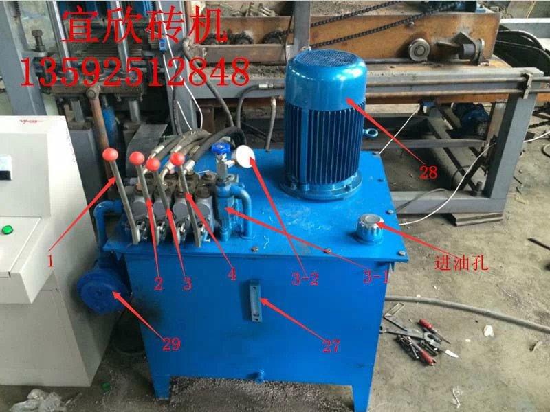 4-15免烧砖机液压控制柜操作部件