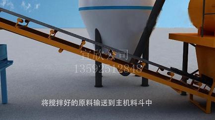 全自动砖机生产流程
