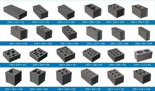 5-15水泥砖机可以生产的砖型